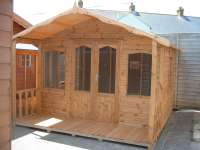 Summerhouse / Chalet - Garden Chalet with 3ft Verandah - Garden - Timber - Cornwall