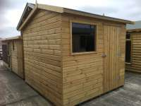 Off Set Timber Garden Apex Shed - Cornwall
