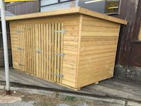 Timber Garden Tool Store with Slatted Doors - Cornwall