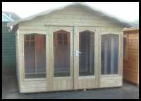 Timber Garden Chalet Summerhouse with Double Doors and Deeper Windows - Cornwall
