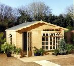 Summerhouse / Chalet - Forest Room with Bow Window - Garden - Timber - Cornwall