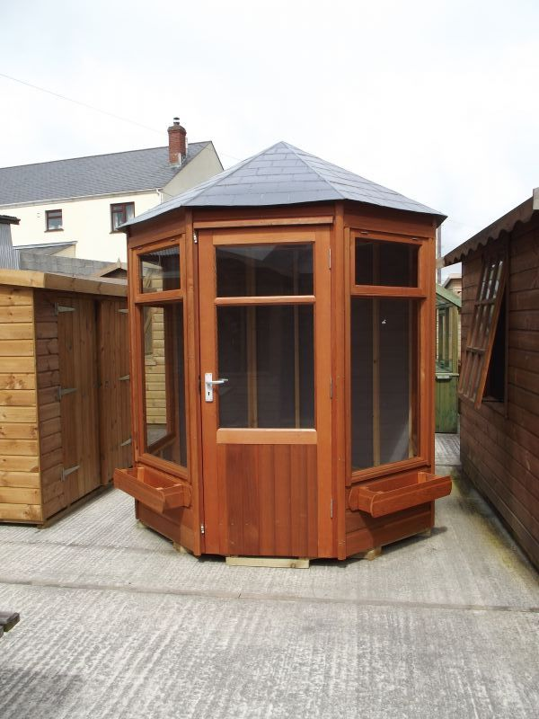 Gazebo Timber Garden Summerhouse with Deeper Windows - Cornwall