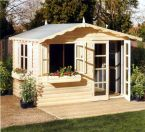 Summerhouse / Chalet - Pine Log Chalet - Garden - Timber- Cornwall