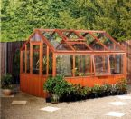 Cedar Wooden Greenhouse - Cornwall